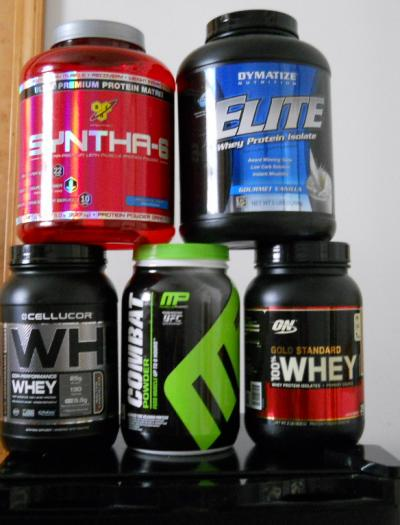 various protein powder containers